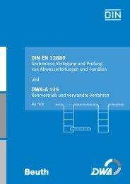 DIN EN 12889 DWA-A 125