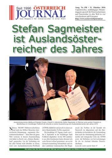 Österreich Journal Ausgabe 158