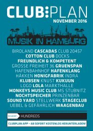 Clubplan Hamburg - November 2016