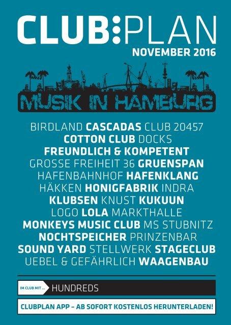 Clubplan Hamburg - November 2016