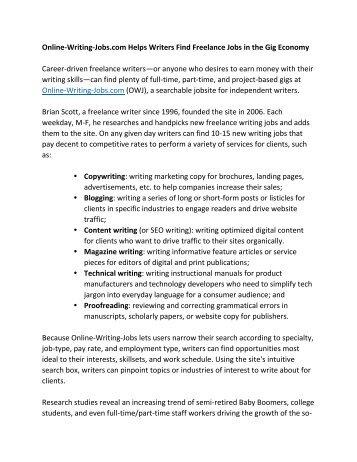part time freelance jobs online