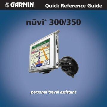 Garmin nuvi 300 - Quick Reference Guide