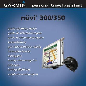 Garmin nuvi 350 - Quick Reference Guide
