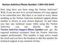 Norton Antivirus Technical Support Number 1-844-442-6444