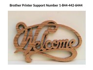 Call Brother Printer Technical Support 1-844-442-6444