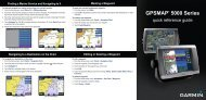 Garmin GPSMAP 5212 - Quick Reference Guide