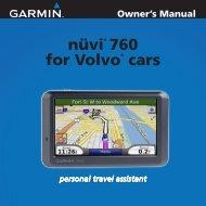 Garmin nüvi® 760 for Volvo Cars - Owner's Manual