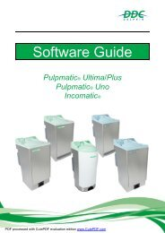 Software  Guide Pulpmatic Ultima  Eco Uno Incomatic V1.1