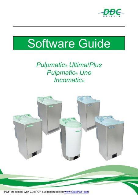 Software  Guide Pulpmatic Ultima  Eco Uno Incomatic V1.1