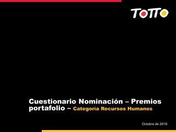 Cuestionario adicional - Premios Portafolio