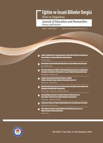 Eğitim ve İnsani Bilimler Dergisi