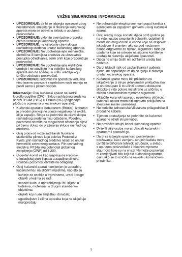 KitchenAid S 12 A1 D/I - Refrigerator - S 12 A1 D/I - Refrigerator HR (850371201500) Mode d'emploi