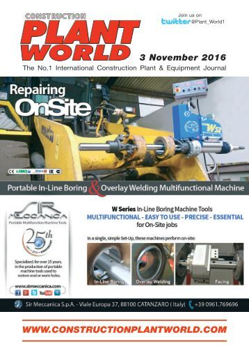 Construction Plant World 3rd November 2016