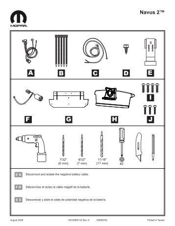 Garmin STPc530 OEM,AM,Mopar,KA Kit - Dodge Nitro Installation Instructions (EN/FR/ES)