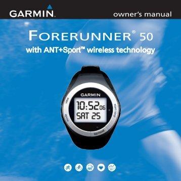 Garmin Forerunner® 50 - Owner's Manual