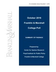 Fr Octo ranklin Col ober 2 n & M lege P 2016 Marsh Poll all