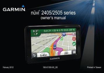 garmin nuvi 2405 2505 series owner s manual rh yumpu com garmin nuvi 255w owners manual pdf garmin gps etrex 10 owner's manual