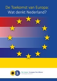 De Toekomst van Europa Wat denkt Nederland?