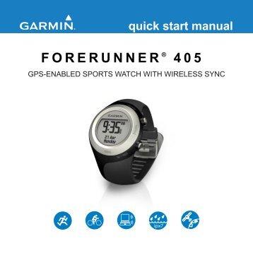 garmin forerunner 210 instructions