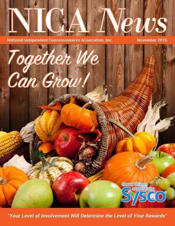 November 2016 NICA News