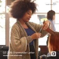 Q3 2016 Shareholder Letter