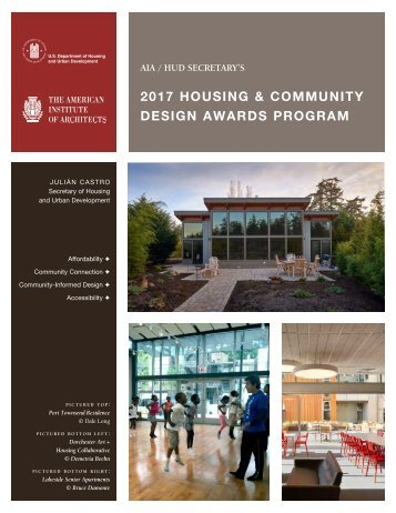 2017 HOUSING & COMMUNITY DESIGN AWARDS PROGRAM