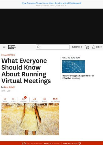 What Everyone Should Know About Running Virtual Meetings