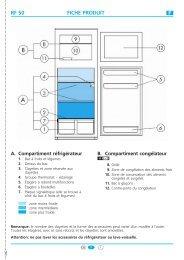 KitchenAid RC 2220 - Fridge/freezer combination - RC 2220 - Fridge/freezer combination FR (853989129010) Guide de consultation rapide
