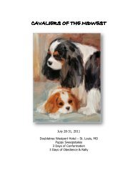 Cavaliers of The Midwest - Cavalier King Charles Spaniel Club - USA