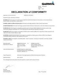 Garmin VIRB® XE Cycling Bundle - Declaration of Conformity