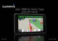 Garmin nüvi 3490 for Volvo Cars, North America - Quick Start Manual