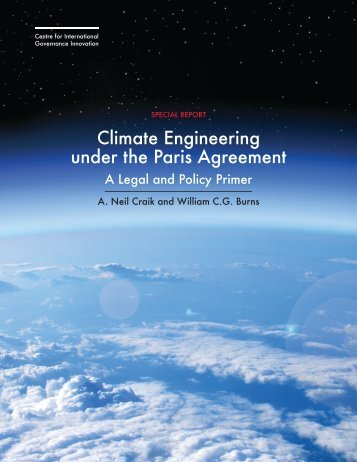 Climate Engineering under the Paris Agreement