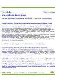 Informations Municipales - Mairie de Solaize