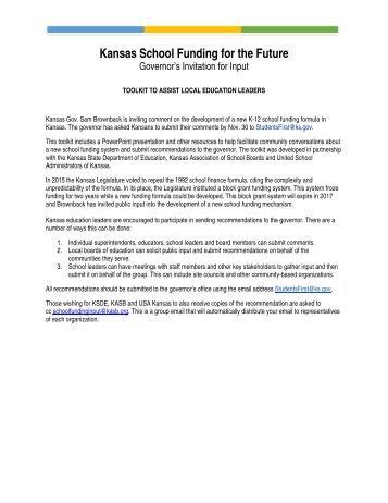 Kansas School Funding for the Future