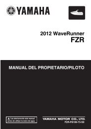 Yamaha FZR - 2012 - Manuale d'Istruzioni Español