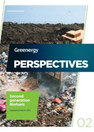PERSPECTIVES Second generation Biofuels - Greenergy