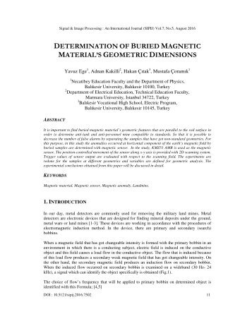 DETERMINATION BURIED MAGNETIC MATERIAL'S GEOMETRIC DIMENSIONS