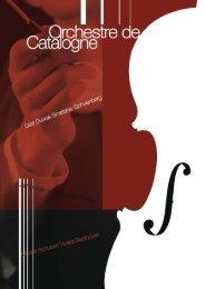 Notre plaquette - Orchestre de Catalogne, Festival de musique ...