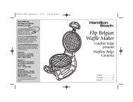 Hamilton Beach Belgian Style Flip Waffle Maker (26010R) - Use and Care Guide