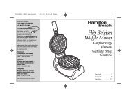 Hamilton Beach Belgian Waffle Maker (26030) - Use and Care Guide