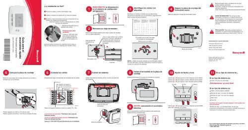 honeywell 7 day programmable thermostat rth7500d manual and user rh manualsmania com Honeywell Programmable Thermostat Honeywell Thermostat Wiring Diagram