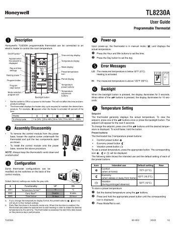 honeywell cm907 manual instructions