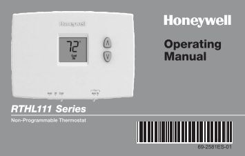 Honeywell Basic Non-Programmable Thermostat (RTHL111B) - Basic Non-Programmable Thermostat Operating Manual (English,Spanish)