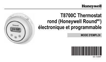honeywell chronotherm iv t8602a manual english