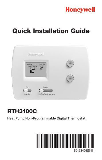 heating element thermostatic head single ambient instal honeywell digital non programmable thermostat heat pump rth3100c digital non