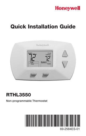honeywell non programmable thermostat instructions