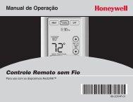 Honeywell Programmable Wireless FocusPRO Comfort System - Programmable Wireless FocusPRO Comfort System Operating Manual (Portuguese)