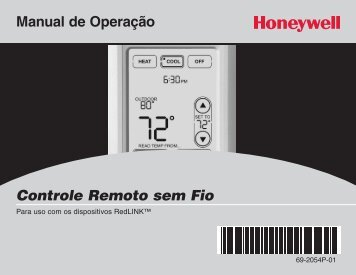 Honeywell Programmable Wireless FocusPRO Comfort System - Programmable Wireless FocusPRO Comfort System Operating Manual (Portuguese)