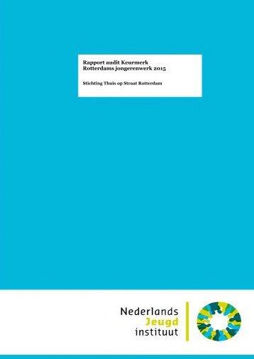 Rapport audit Keurmerk Rotterdams jongerenwerk 2015