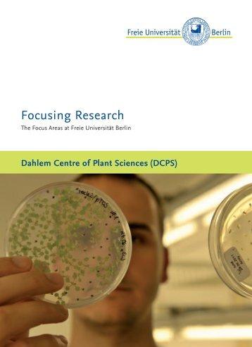 FU Focus Area DCPS EN.indd - Freie Universität Berlin